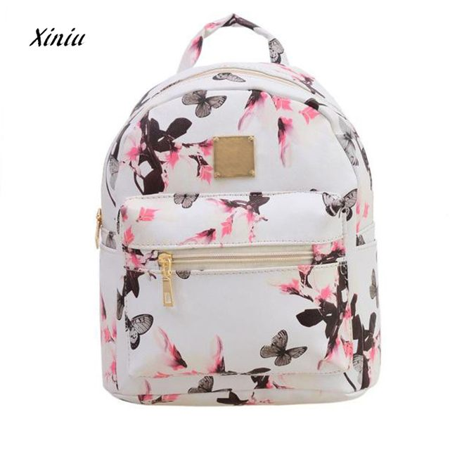 Women Backpack Luxury Brand 2018  Hot Sale Fashion Causal High Quality Floral Printing PU Leather Backpacks For Girls,mochila