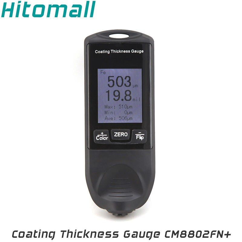 Color LCD Display Coating Thickness Gauge Painting Thickness Measurement Film Thickness Meter Car Paint Tester CM8802FN+