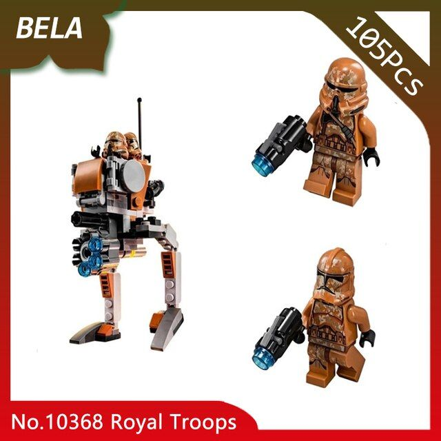 Bela 10368 105pcs Star Series Wars Royal Troops Transport Aircraft Model Building Blocks Toys Compatible with Legoings