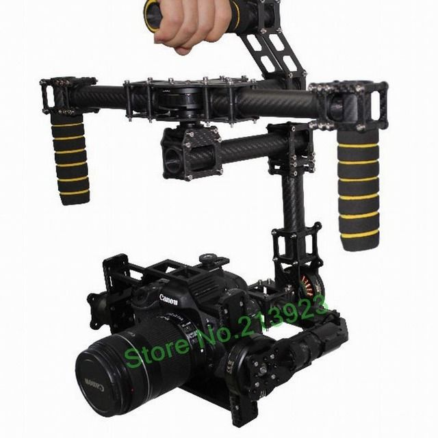 DYS DSLR Handle Camera  3 Axis Brushless Gimbal Carbon Mount + 32 bits AlexMos Controller + 3 Motor CANON 5D MarkII