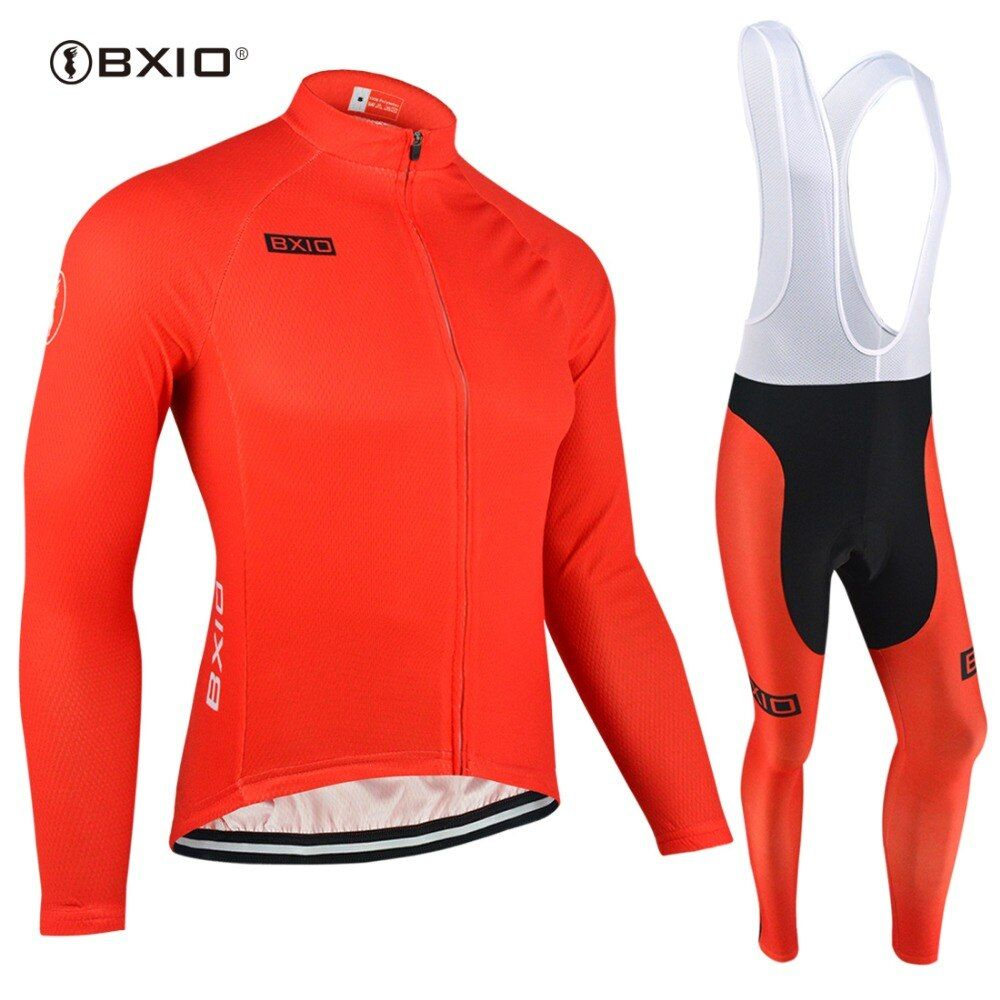 BXIO 2019 Winter Thermal Long Maillot Ciclismo Cycling Clothing Cycling Red Jersey Bicycle Jersey Wear Cycling Jersey Sets 088