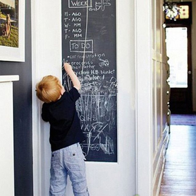 Chalk Board Blackboard Stickers Removable Vinyl Draw Decor Mural Decals Art Chalkboard Wall Sticker For Kids Rooms D0040