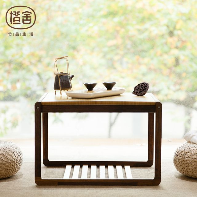Square Tea Table Modern Chinese Style Bamboo Coffee Table Wooden Table Living room Home Furniture