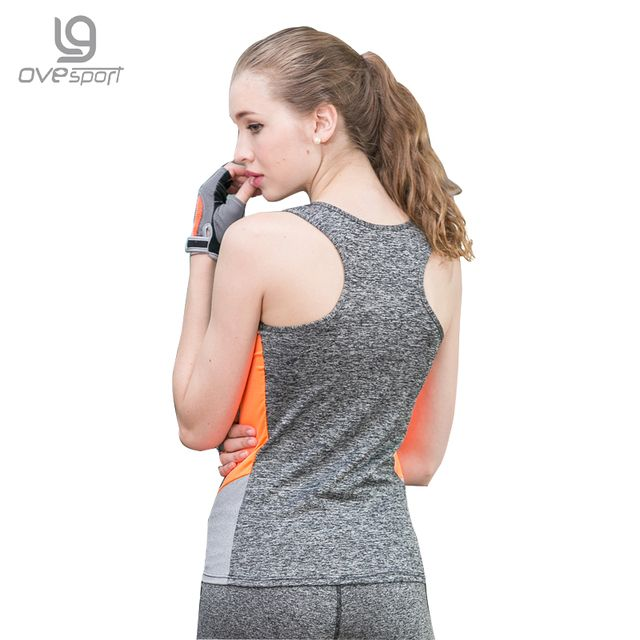 Summer Sexy Tank Top Women Fitness Vest Quick Dry Breathable Sleeveless Shirts Splicing High Elastic Women Vest 2004