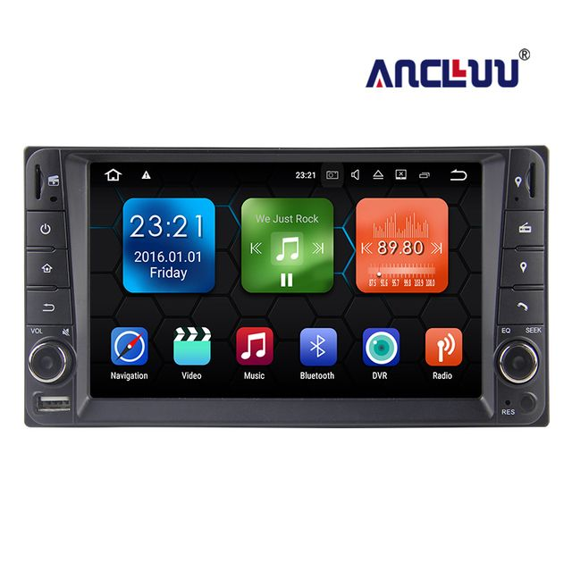 "2 Din 6.2"" Quad core Android 8.1 Universal Car DVD Player For Toyota Corolla RAV4 Hilux Yaris Terios 4Runner Radio GPS BT Map"