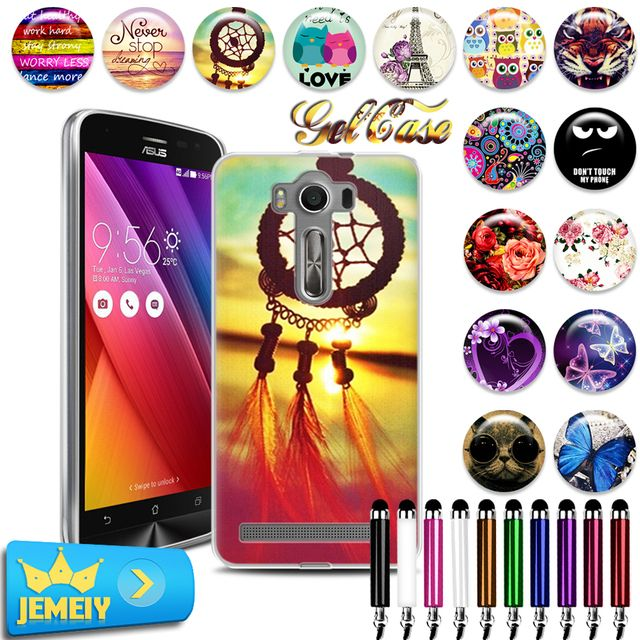 2016 Various Patterns UV Printed Soft Gel TPU Case For Asus ZenFone 2 Lazer ZE550KL 5.5 phone Case For Asus  phone Back Case