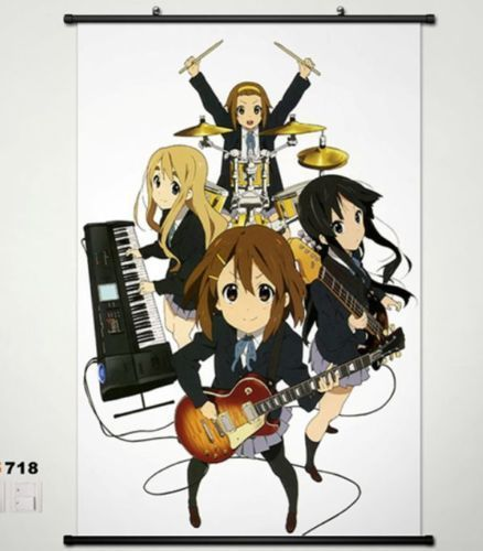 Cute  K-ON  Mio Akiyama Mio & Hirasawa Home Decor Japan Poster Wall Scroll 718