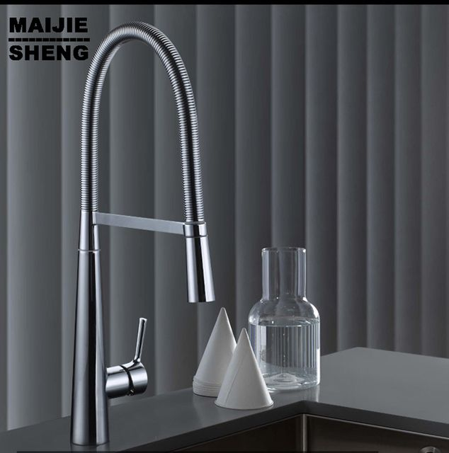 New Torneira Copper Wire drawing Kitchen Faucet Hot And Cold Sink Faucets Contemporary Handle Chrome Torneiras Pia Cozinha Tap