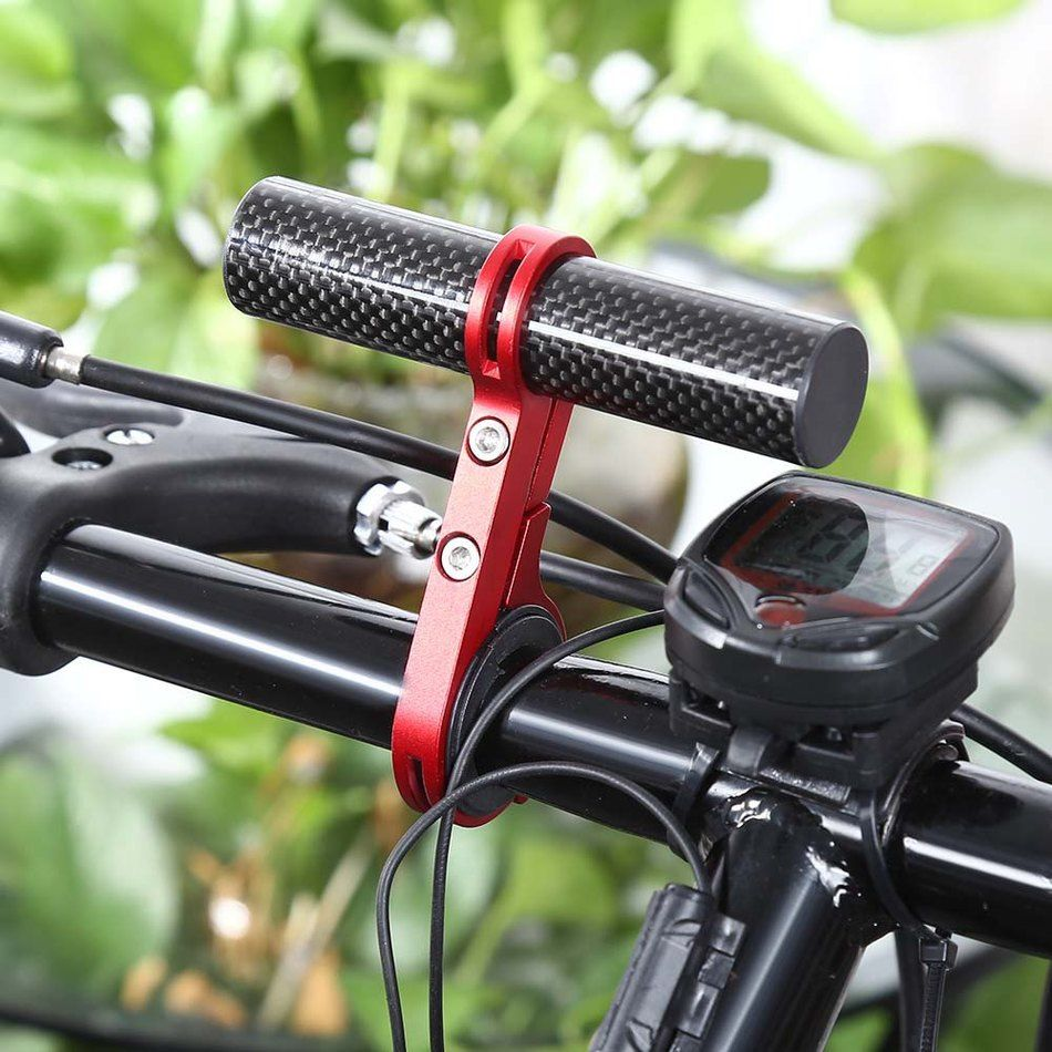 Bike Handlebar Extender Bicycle Light Bell Computer Handle Bar Mount Carbon Fiber Bicycle Handle Bar Extender Accessories