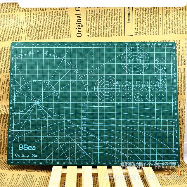 A3 Pvc Rectangle Grid Lines Self Healing Cutting Mat Tool Fabric Leather Paper Craft DIY tools 45cm * 30cm