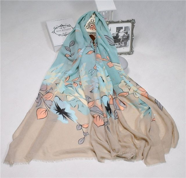 2016 Women Lovely Floral Pattern Quality Fringe Scarf Cotton Scarf 10pcs/Lot
