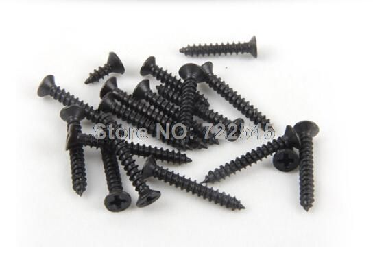 M1.2x4.5 Self Tapping Screws Computer Screw Small Philips Countersunk Head Flat Black Steel Head Diameter 2mm Pack 1000