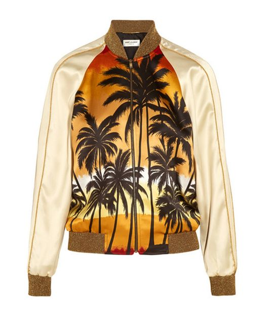2016 autumn jacket women New fashion Palm Coconut trees Pattern Print Lurex Baseball uniform bomber jacket coat chaquetas mujer