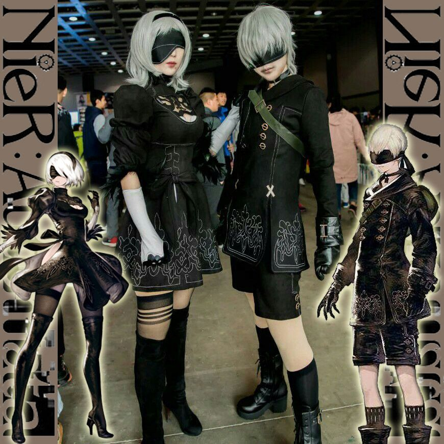 [Stock] Game NieR : Automata figure 2B 9S Full set cosplay costume S-XL New 2017 free shipping