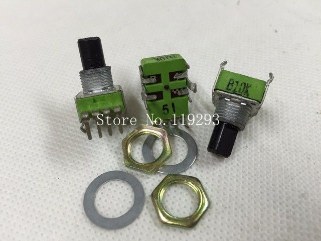 [BELLA]TAIWAN ALPHA  potentiometer RK11K Series legs with a gong sound dental instruments  B10K Potentiometer--10PCS/*LOT