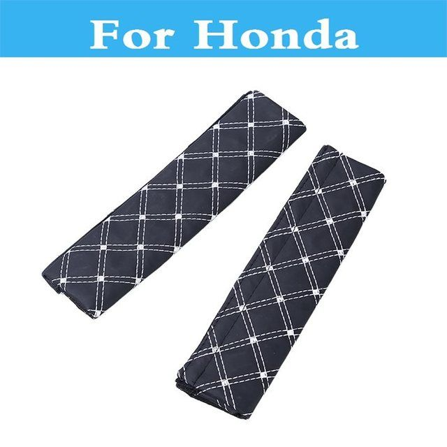 2PCS Car Safety Seat Belt Strap Soft Shoulder Cushions Pads For Honda Accord Airwave City Crossroad Crosstour CR-V CR-Z Element