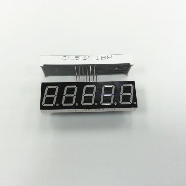 "0.56"" inch five digital red common cathode , 5651 digital 7 segment red led display  5 digits"