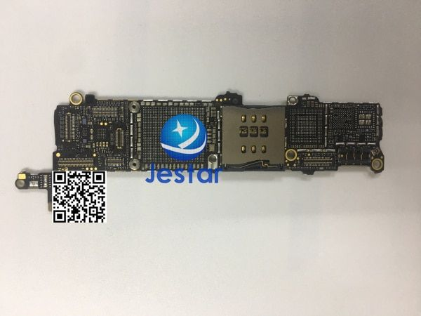 Incomplete Motherboard Logic Board with FPC,Cap,coil,diode, Res, for iphone 5s (without the chips main ics )
