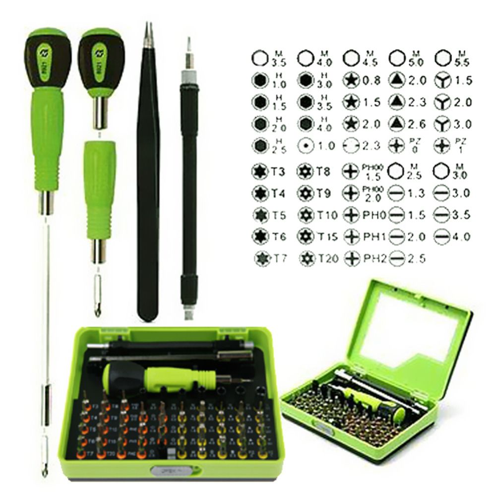 Repair Screwdriver Set 53 in1 Multi-Bit Precision Torx Screwdriver Bits for Phone Laptop Computer Repair Open Tool Kit