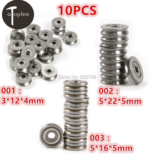 10 PCS 3*12*4mm 5*22*5mm 5*16*5mm V623/603ZZ High Carbon Steel V-groove traces Pulley Wheel Timing Rodas Pulley Belt