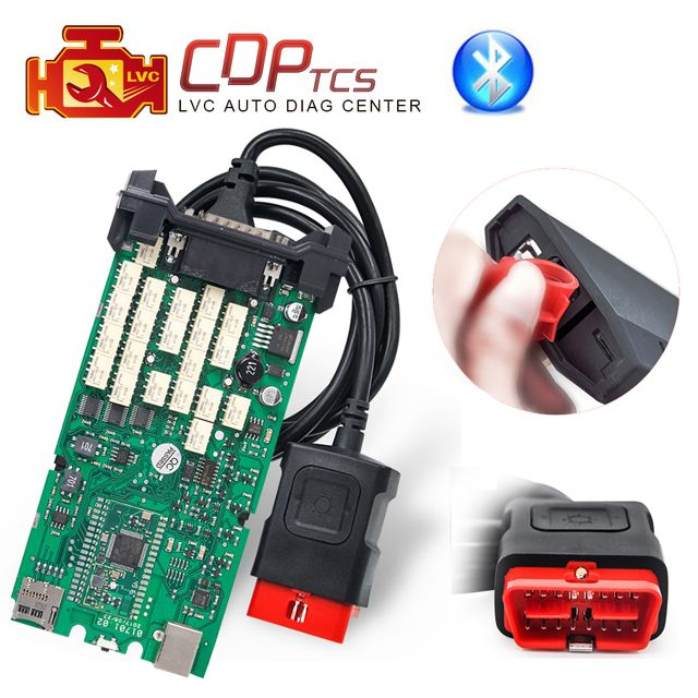 A+ Quality cdp tcs cdp pro plus bluetooth single green board multidiag pro MVD 2015 R3 keygen cars trucks OBD2 diagnostic tool
