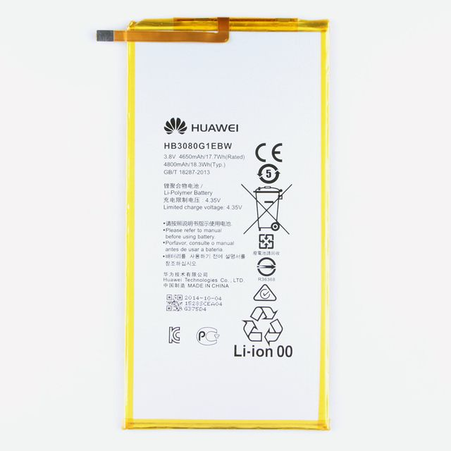 Original Huawei HB3080G1EBW S8 Rechargeable Li-ion Tablet battery For Huawei Honor S8-701u Honor S8-701W Mediapad M2 8.0