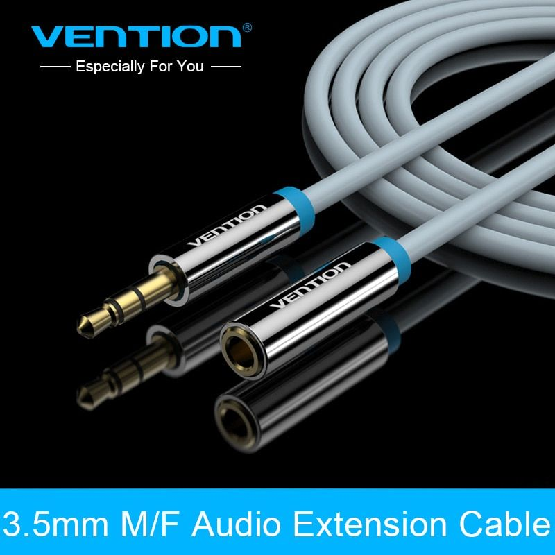 Vention audio extension cable 3.5 mm Jack Stereo Aux Cable Extender mic Cable 1m For Headphone/PC/DVD/TV/Car Audio Cable
