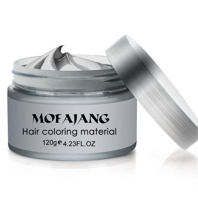 Hair Styling Pomade Silver Ash Grandma Grey Fashion Wax Unsex Temporary Disposable Mold Hair Dye Coloring Mud Cream Dropshipping