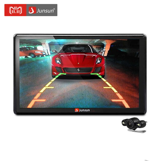 Junsun 7 inch Car GPS Navigation Bluetooth 8GB with Rear view Camera FM MP3 MP4 800MHZ Detailed Maps navigator 2018 Europe