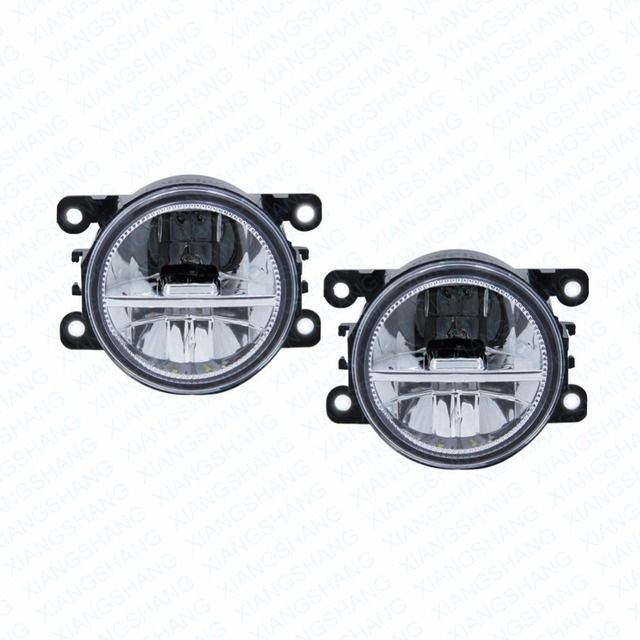 LED Front Fog Lights For Ford C-Max / Fusion 2013-2014 Car Styling Round Bumper DRL Daytime Running Driving fog lamps