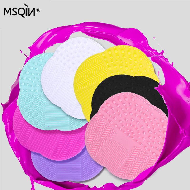 Hot Brush Clean brushes Makeup Wash Brush Silica Glove Scrubber Board Cosmetic Cleaning Tools Made beauty for makeup brushes