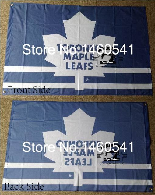 Toronto Maple Leafs Flag 3ft x 5ft Polyester NHL Banner Toronto Maple Leafs Flying Size No.4 144* 96cm QingQing Flag