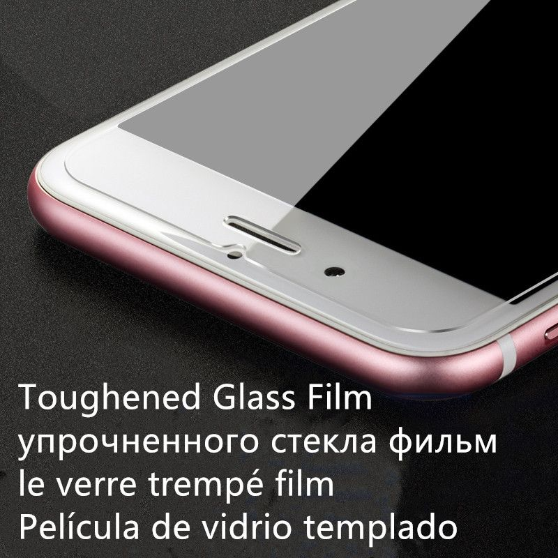 0.26mm 2.5D 9H Toughened Tempered Glass Film for iPhone SE 4 5 6 s Plus Screen Protector for iPhone 7 7 Plus
