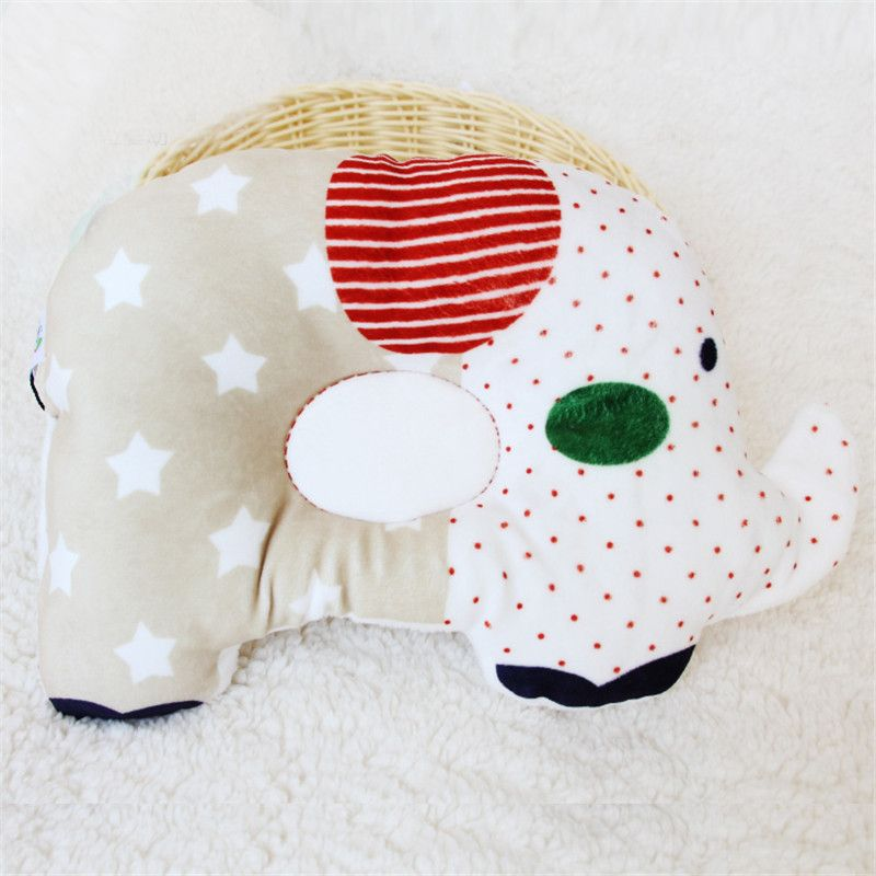 High Quality Baby Cartoon Cotton Pillow Concave Adorable Baby Soft Neck Support And Beat Head Shape Baby Shaping Pillow M158