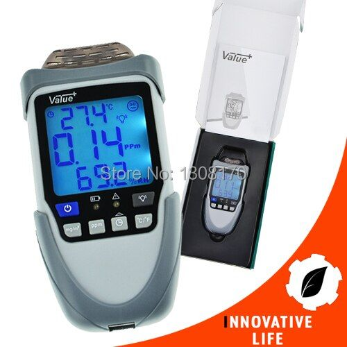 0.99% RH Humidity Formaldehyde(HCHO) Air Quality Detector Lightweight Handheld Gas Detector Temperature and Humidity Measure