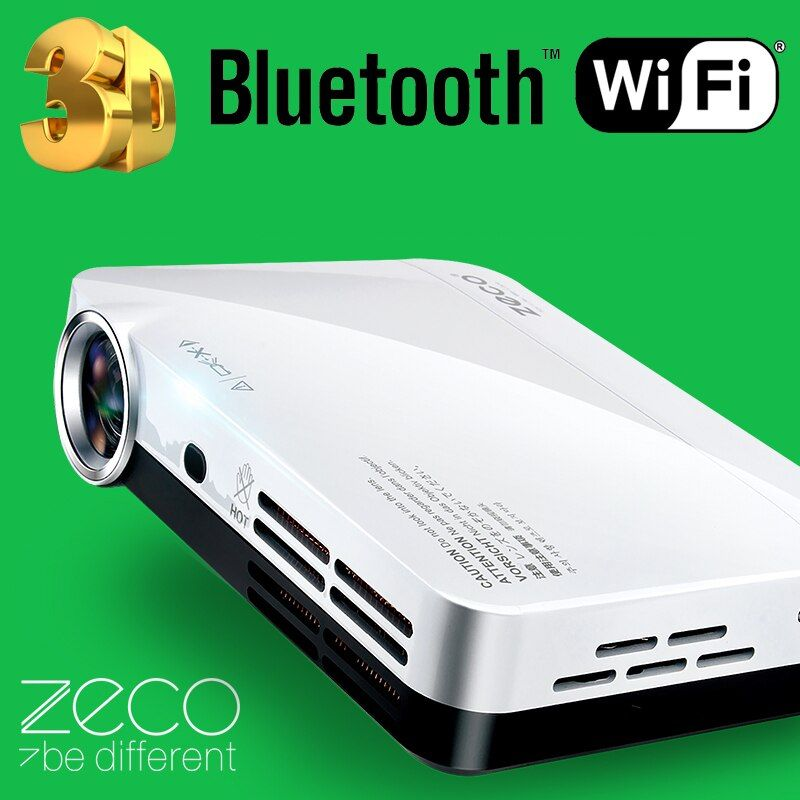 Mini Portable 3D Dlp Projector HDMI USB Video Digital Home Theater Support 1080P Android Wifi Bluetooth Miracast Airplay