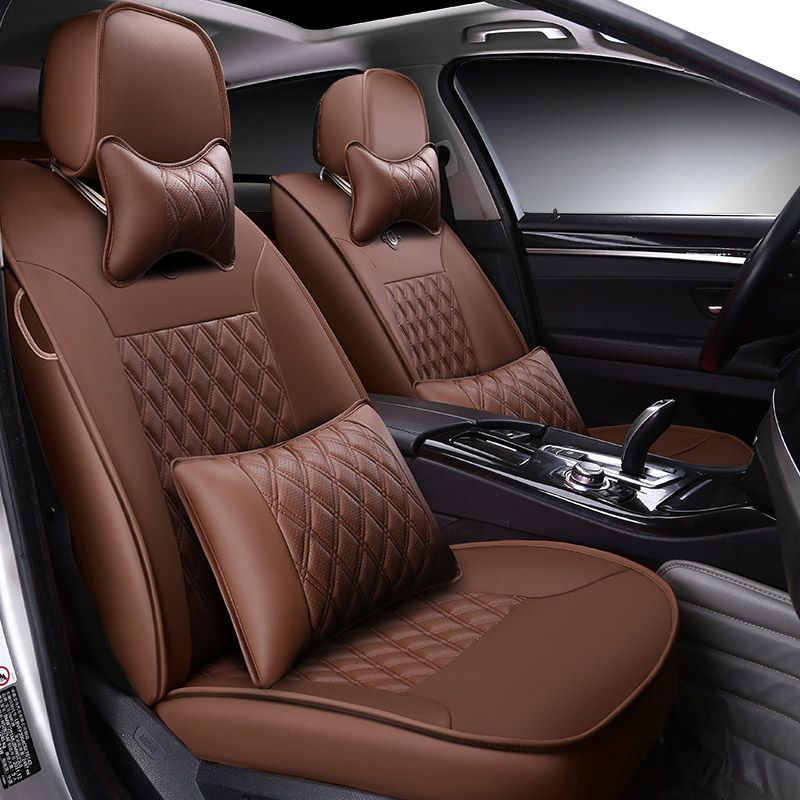 Custom made/ Leather car seat cover For Peugeot 205 206 207 2008 3008 301 306 307 308 405 406 407 accessories styling cushion