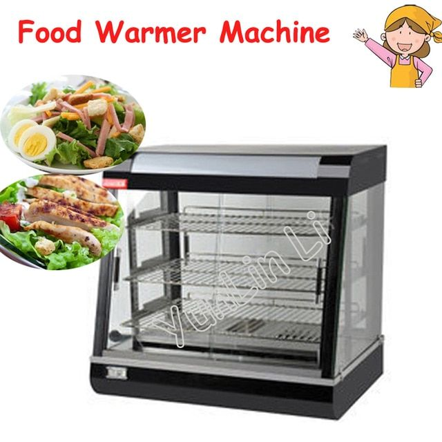 Stainless Steel Electric Food Warmer Commercial Three layers Keep Food Warm Heated Display Cabinet Warming Showcase FY-601