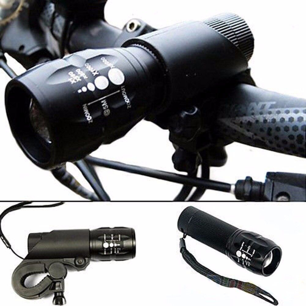 Bicycle Light 240 Lumens 3 Modes Bike Headlight Q5 LED cycling Front Light Torch Lamp With Torch Holder Waterproof Flashlight