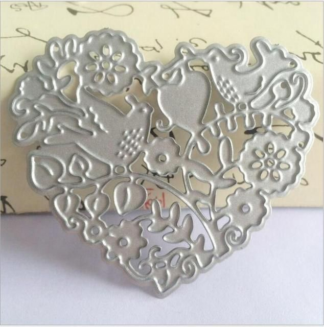 Heart Frames Scrapbook DIY album Card Paper Card Maker Metal Die Cut Stencil Decoration dies Craft Cutting Dies Template