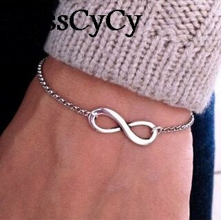 MissCyCy 2016 New Fashion Fine Jewelry  Gift Bohemia Style Infinity Symbol Bracelets For Women