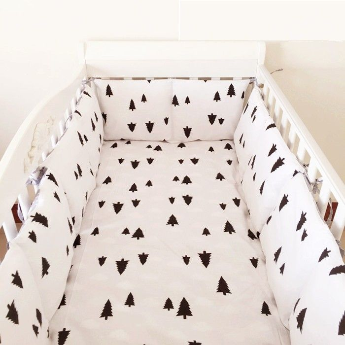 Discount! 6pcs Baby Bedding Set Baby Bumper Baby cradle crib cot bedding set,include(bumper+sheet+pillowcase)
