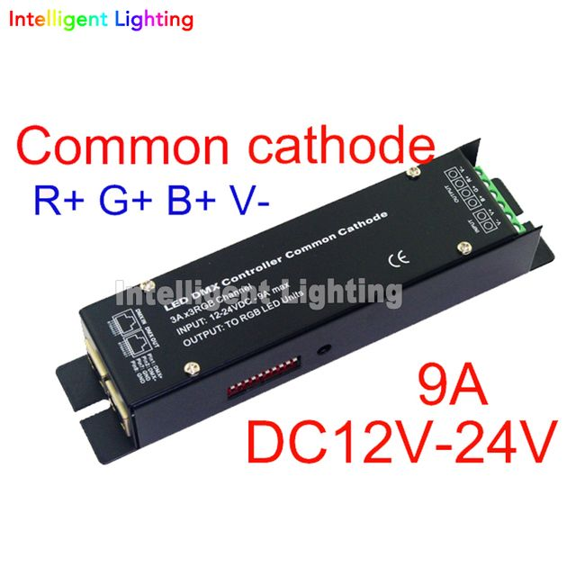 3CH DMX512 CC led RGB controller Constant voltage common cathode DMX decoder high Frequency