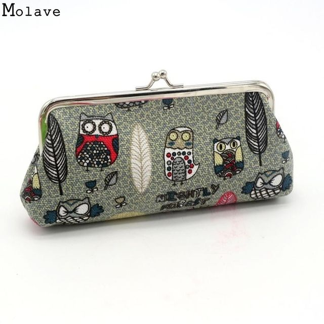 High Fashion New Good Quality Women Lady Canvas Wallet Retro Vintage Owl Small Wallet Hasp Purse Clutch Bag Gift Dec22