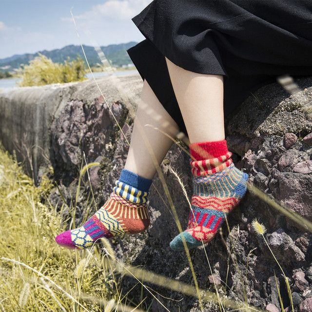 20Pairs/Lot New new autumn and winter socks Japanese Harajuku color wool socks female factory wholesale