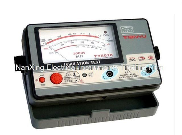 Fast arrival  TY6017 500V insulation resistance meter,analog INSULATION TESTER,0.5-1000M.OHMS