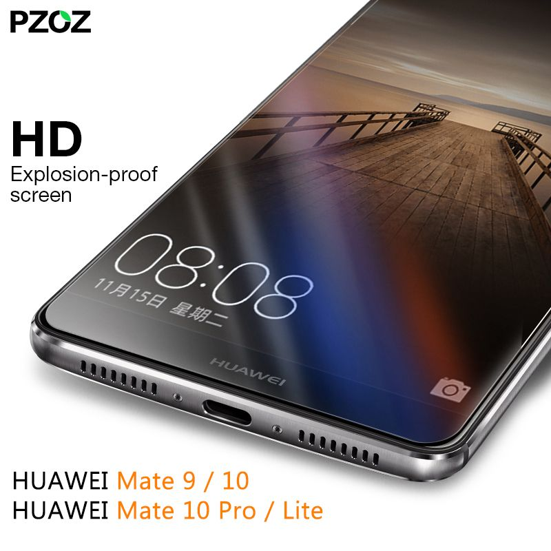 PZOZ for huawei mate 9 glass tempered cover screen protector for huawei mate 20 X pro Screen phone film mate honor 20 9 10 lite