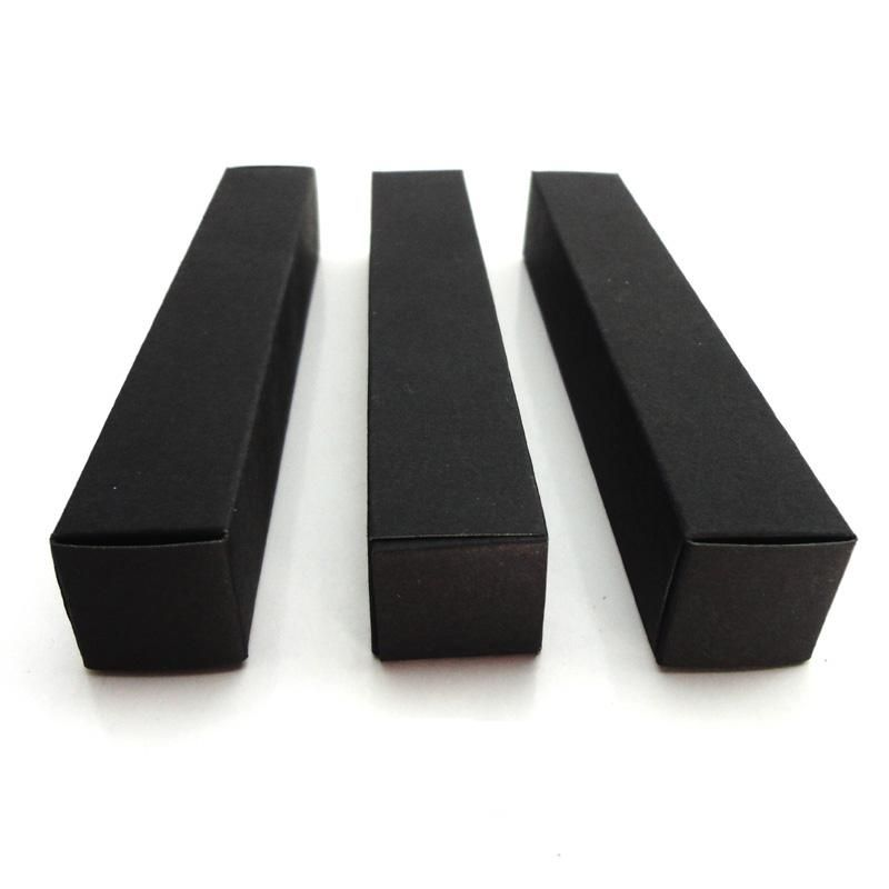 100pcs/lot-2*2*12cm Black Paper Box for Essential Oil Perfume sample bottle Lipstick Stroage Boxes Craft Gift boxes valve tubes