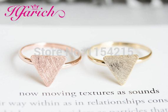 New Fashion multicolor triangle plate rings knuckle ring stretch rings men ring in brass  EY-R208