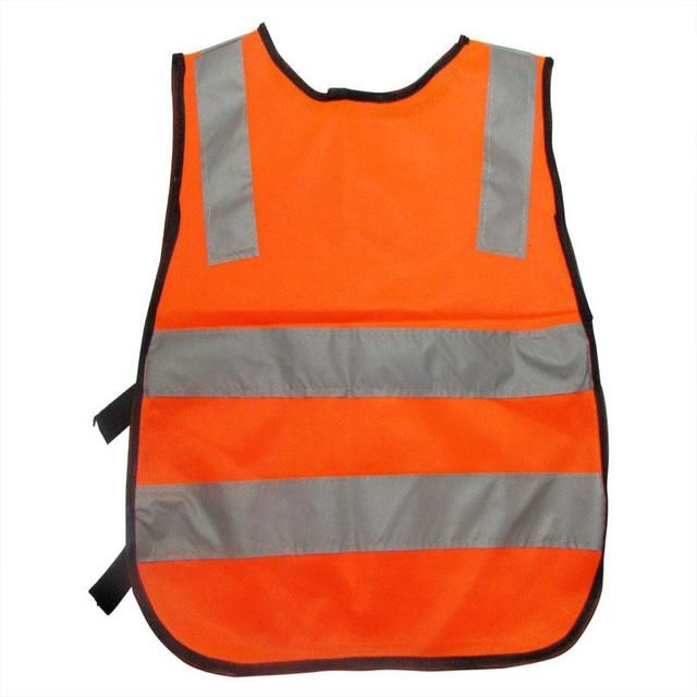 Nitting Polyester Fabric Kids Reflective Safety Vest Children Chaleco Reflectante Safety Vest Size Reflective Work Cloth 42*47Cm